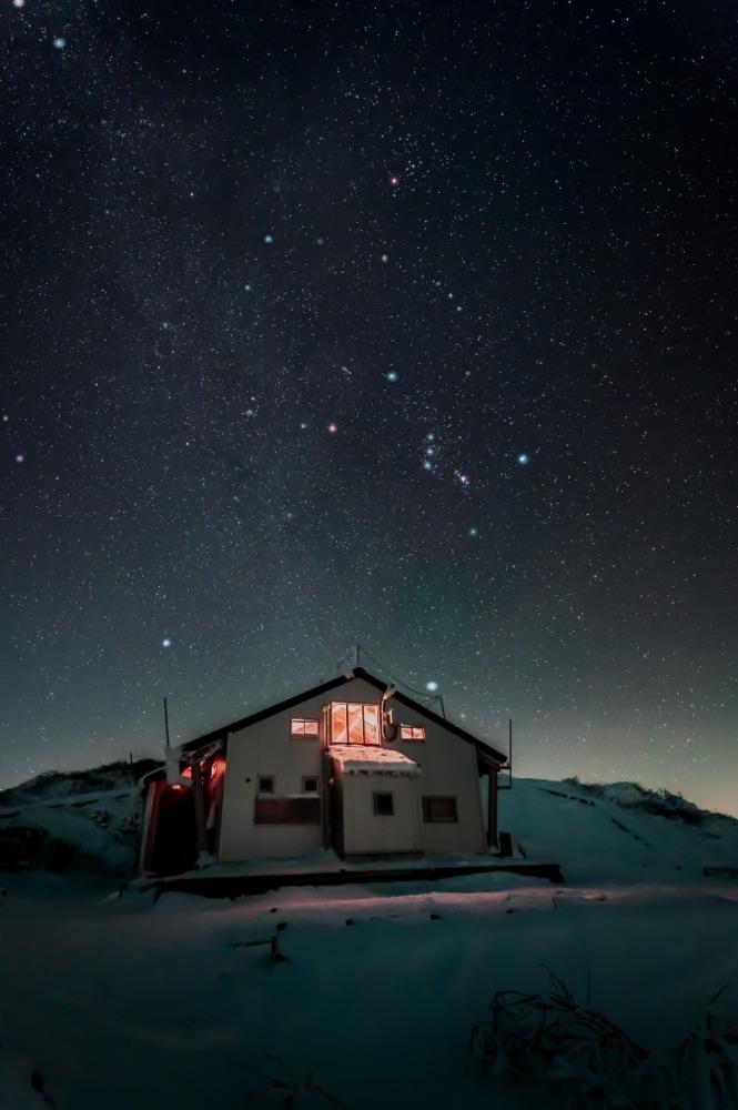 真冬だよ‼ 大山に全員集合‼ (´▽`*)  (リゲル・シリウス・プロキオン・ボルックス・カペラ・アルデバラン)