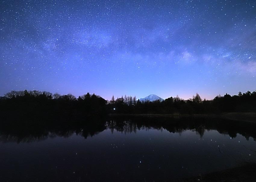 福岡堤と天の川
