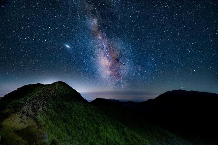 銀河の駿馬 大山山系を駆ける